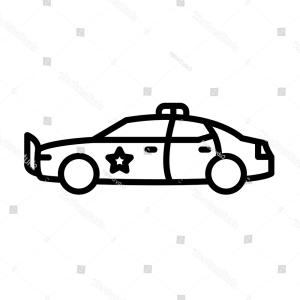 Police Car Line Drawing