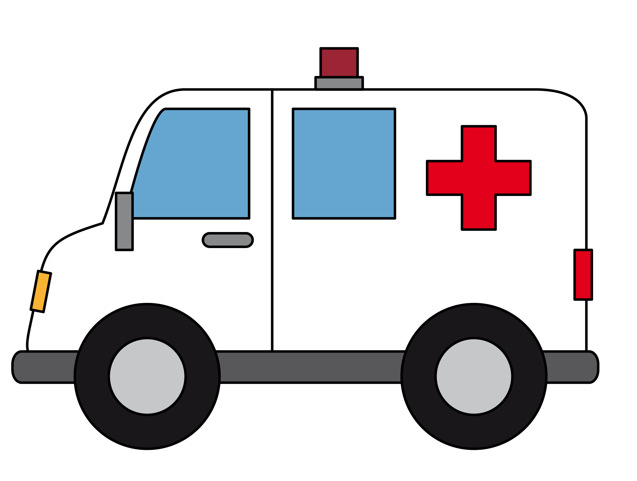 2103x1588 Cliparts For Free Download Ambulance Clipart Line Drawing