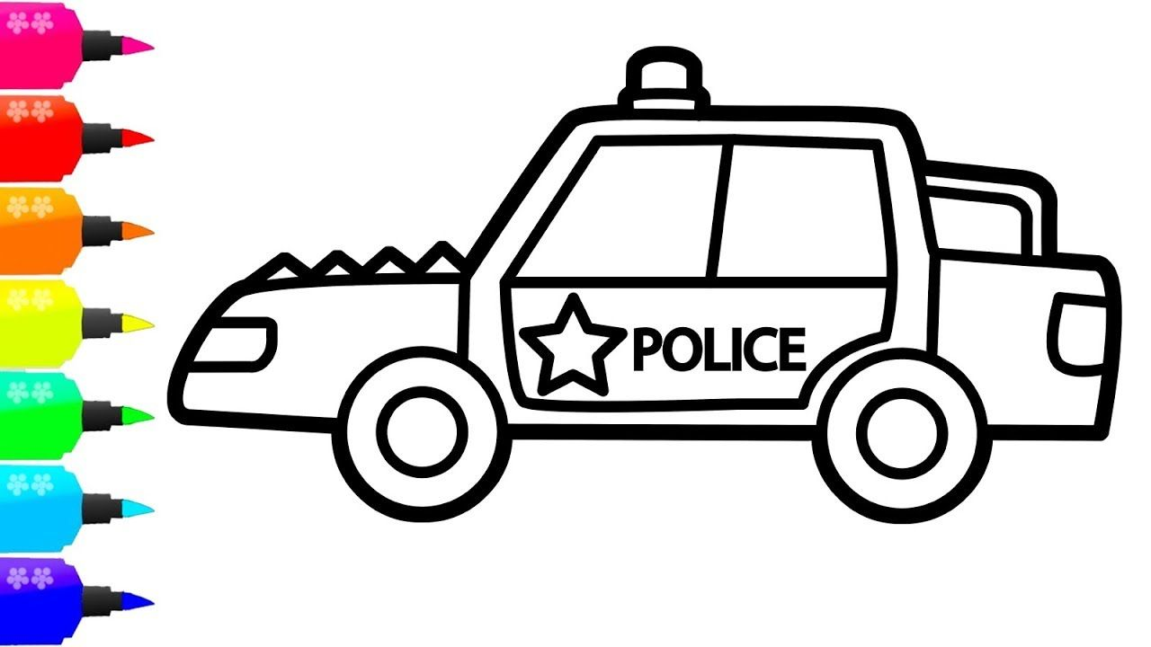1280x720 How To Draw A Police Car For Kids