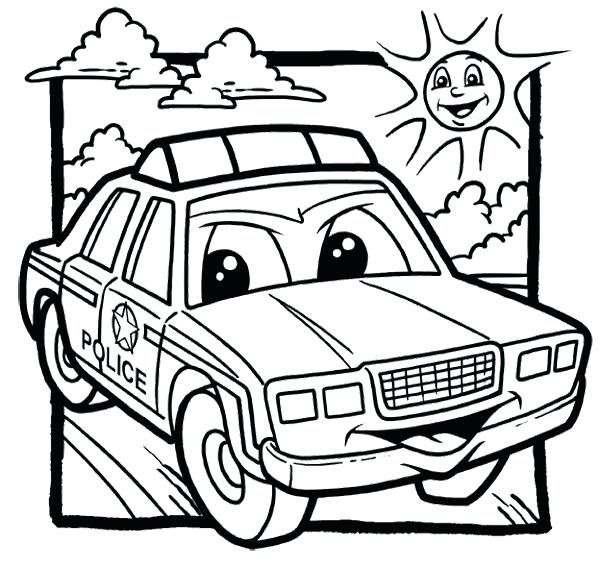 600x567 Police Car Coloring Pages Cars Color Coloring Pages Police Car