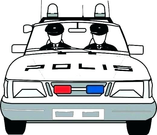 520x447 Police Car Coloring Pages Online Color