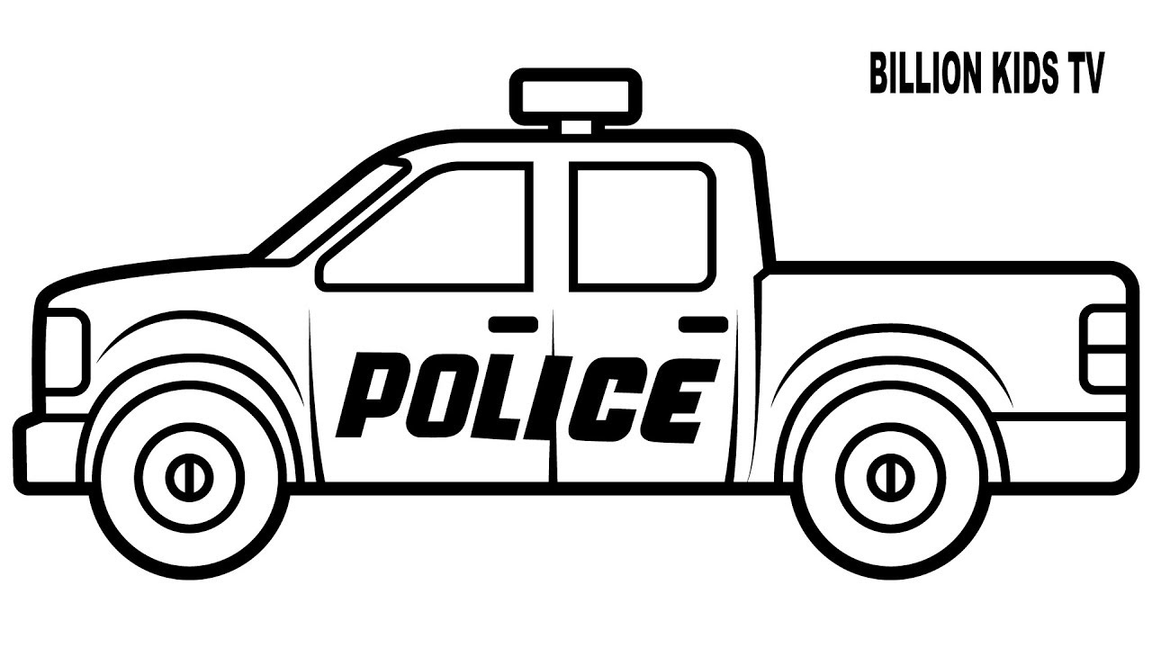 1280x720 Cop Drawing Police Truck For Free Download