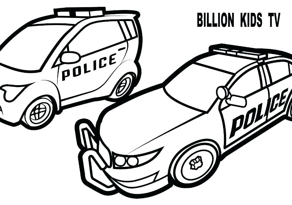1024x720 Black And White Police Car