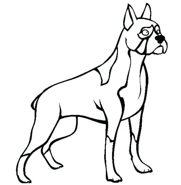 600x612 boxer dog coloring pages police boxer dog coloring pages boxer dog