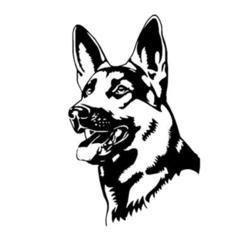 250x250 german shepherd head car sticker german shepherd zone dog