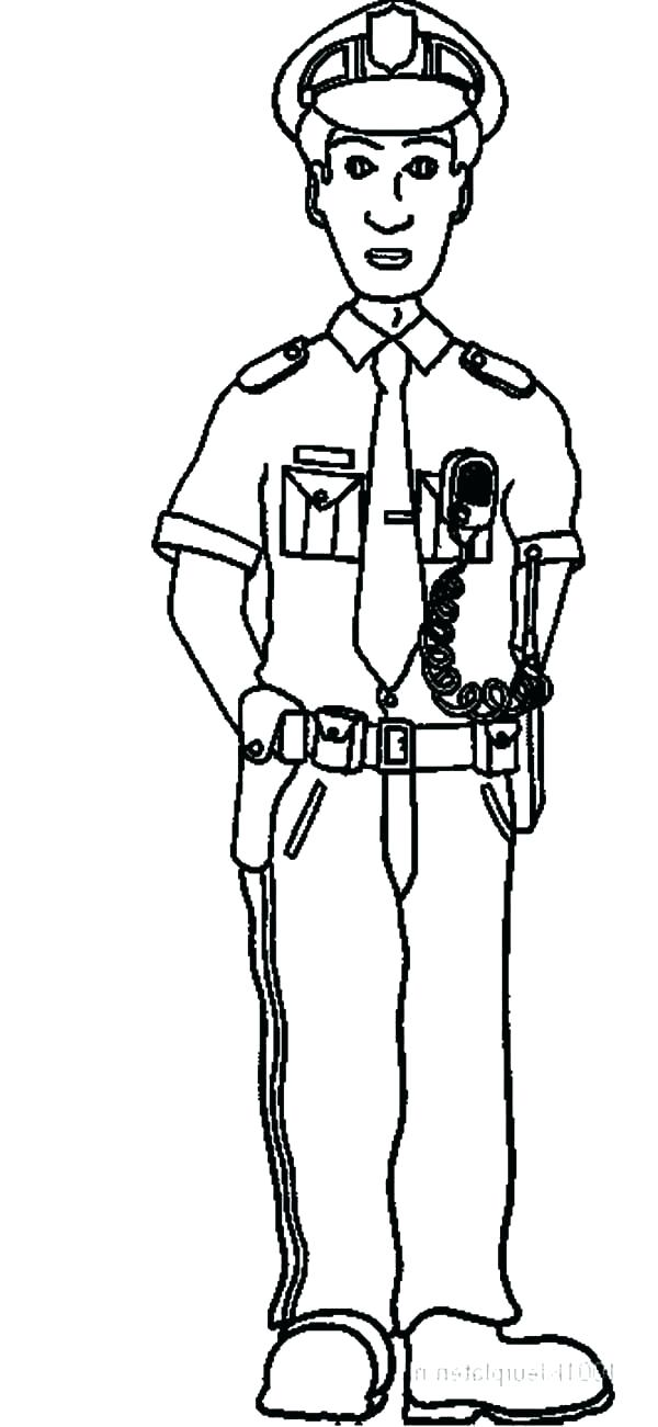 Police Uniform Drawing