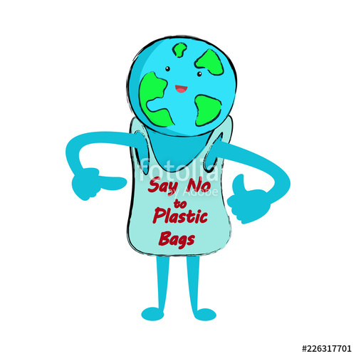 500x500 say no to plastic bags stop plastic pollution concept vector