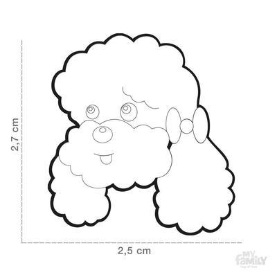 400x400 apricot poodle dog id tag dog name tag free engraving