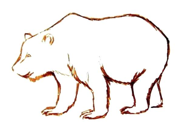 600x422 Easy To Draw Pooh Bear How To Draw A Bear How To Draw A Brown Bear