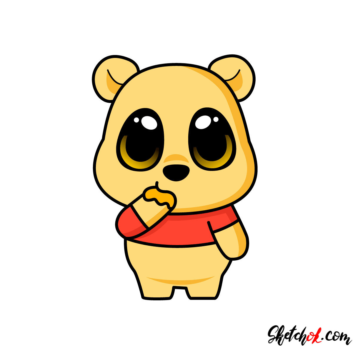 1200x1200 How To Draw Chibi Pooh Bear