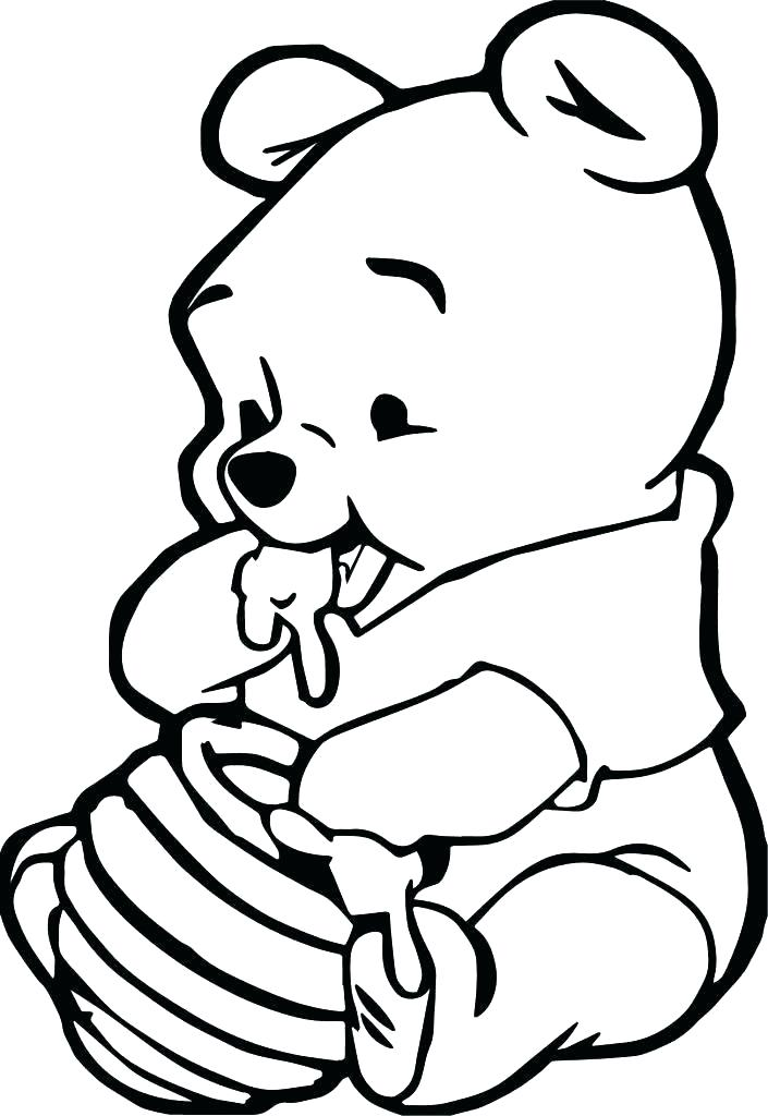 705x1024 Pooh Bear Christmas Coloring Pages