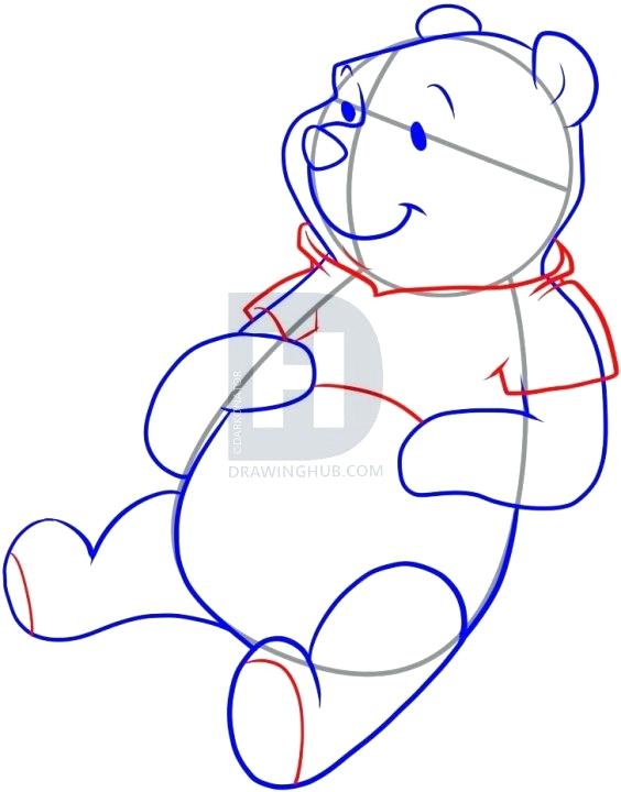 564x720 Easy To Draw Pooh Bear Description Well Guys You Have Finally