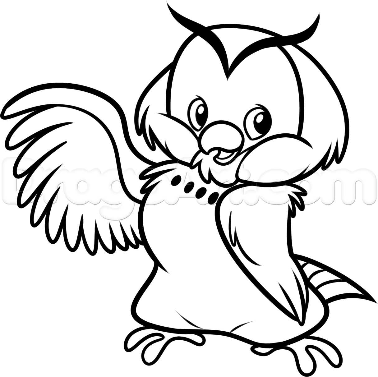 1216x1213 How To Draw Chibi Owl From Winnie The Pooh, Step