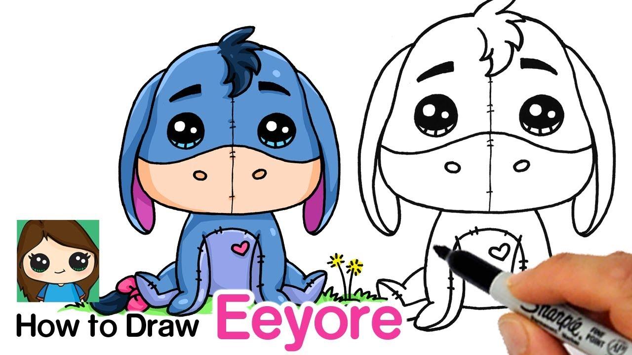1280x720 How To Draw Eeyore Winnie The Pooh