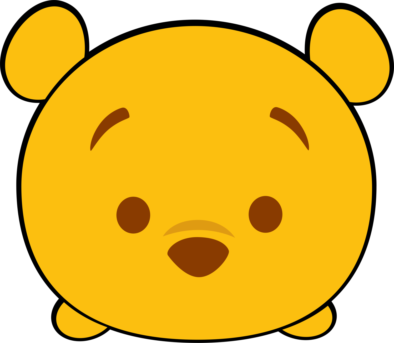 1654x1438 Pooh Drawing Face Huge Freebie! Download For Powerpoint