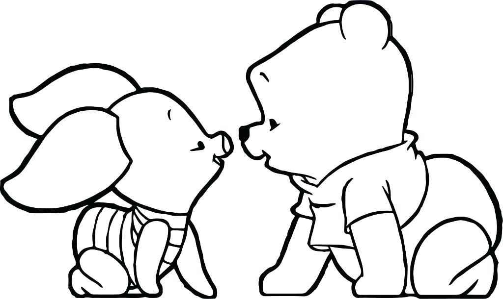 1024x610 Winnie The Pooh Outline The Pooh To Draw Easy The Pooh Drawings