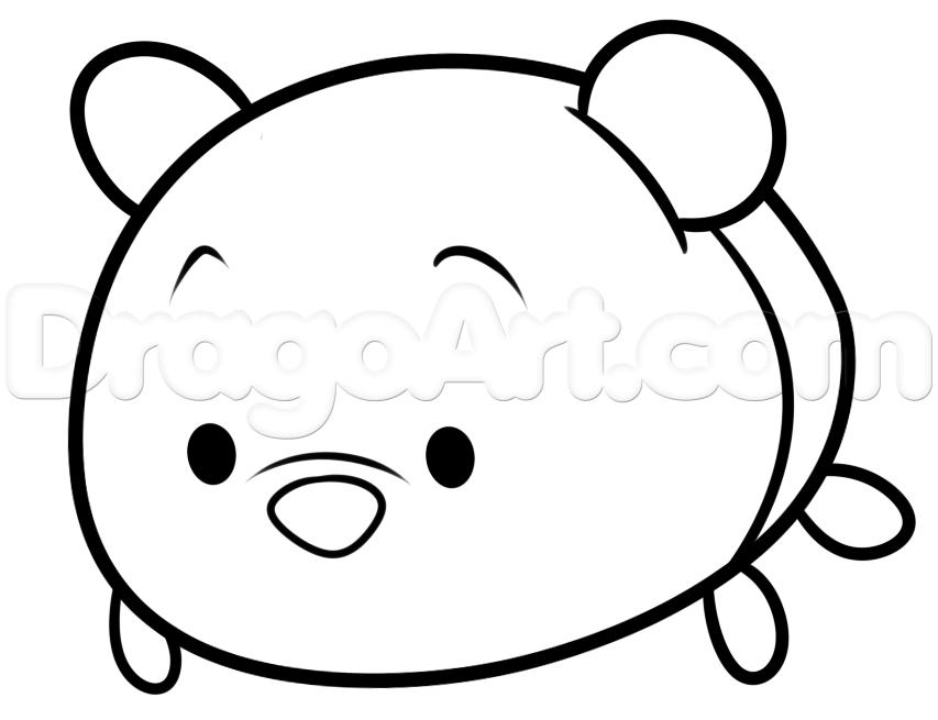 853x655 Draw Tsum Tsum Winnie The Pooh, Step
