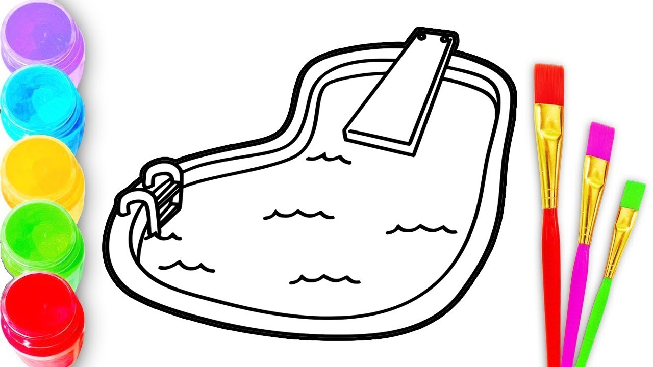 1280x720 how to draw a swimming pool for kids pool drawing