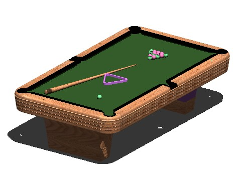 Pool Table Drawing
