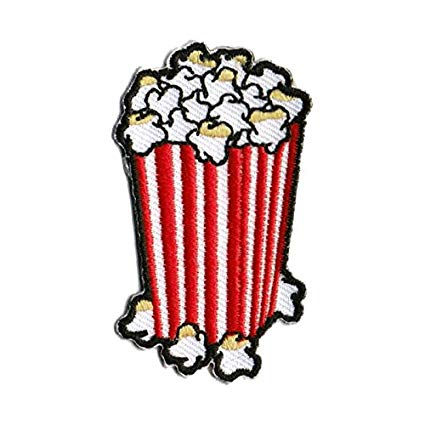 425x425 popcorn patch food patches cool iron on patches funny