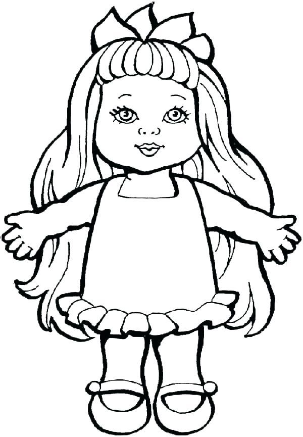 600x865 doll drawing baby doll for free download