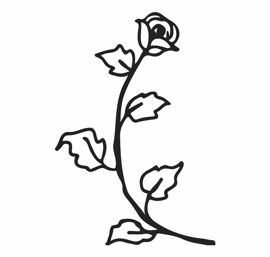 920x876 Drawn Rose Stem Rubber Stamp Free Png Images Clipart Download