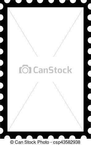 295x470 Postage Stamp Upright Icon Vectors