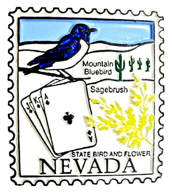 569x638 Classic Nevada Postage Stamp Fridge Magnet