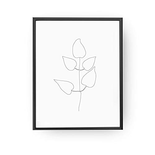 500x500 leaves minimal, leaves drawing, leaves minimal art