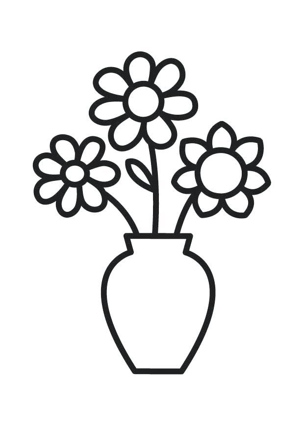 620x875 flower drawing outline flower vase outline drawing luxury flower