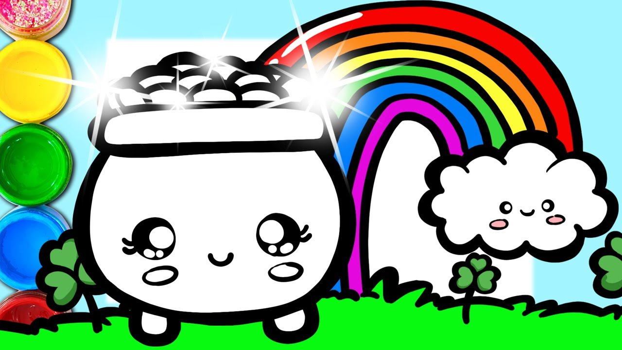 1280x720 How To Draw A Pot Of Gold With Rainbow Step