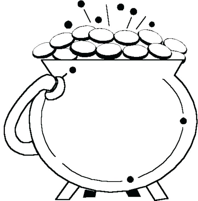 image about Pot of Gold Template Free Printable named Pot Of Gold Drawing Totally free obtain great Pot Of Gold Drawing