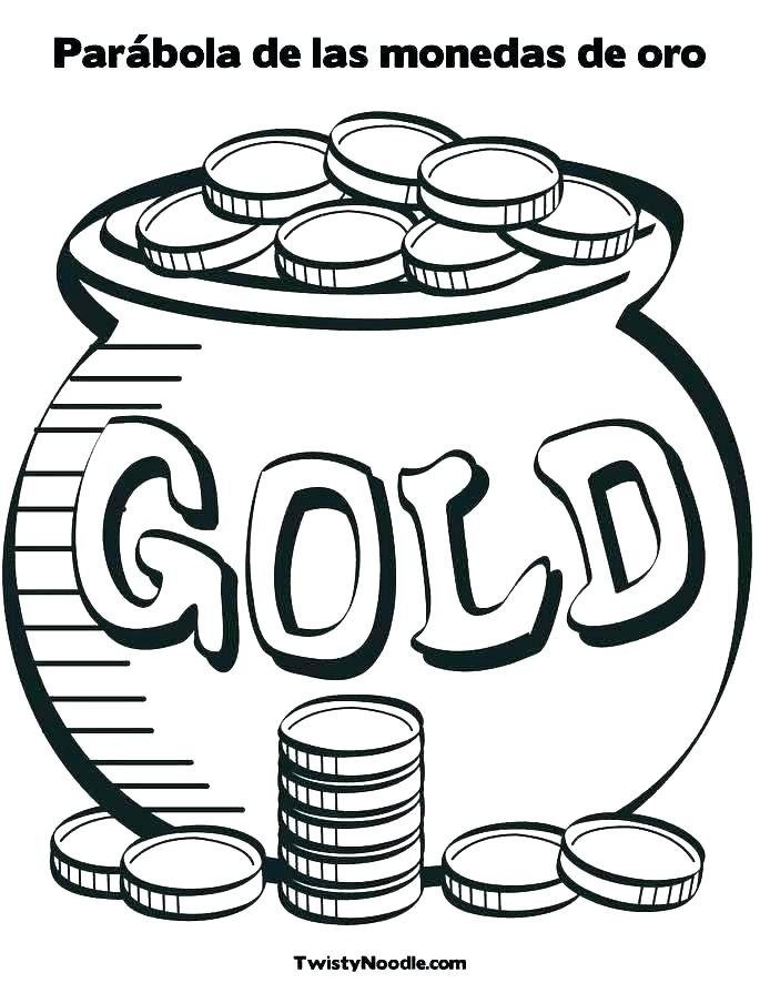 685x886 printable pot of gold gold free printable pot of gold coloring