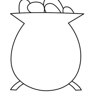 300x300 Simple Drawing Of Pot Of Gold Coloring Page
