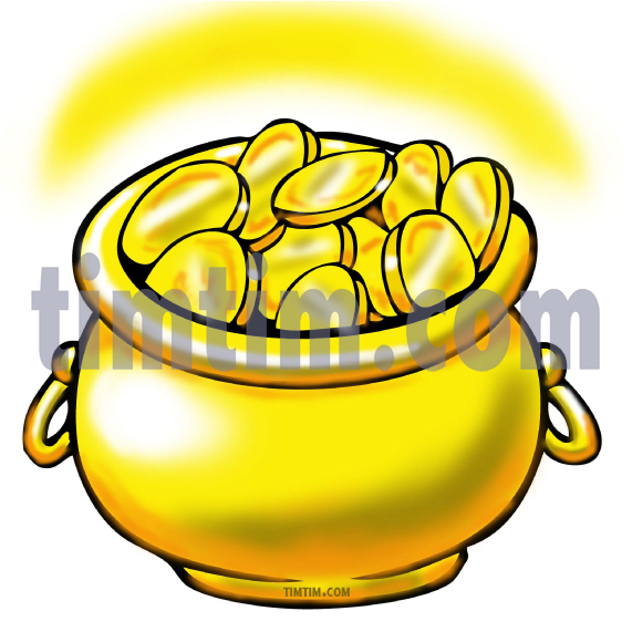 571x571 Free Drawing Of A Pot Of Gold From The Category Business