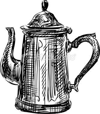 333x380 tea kettle tea kettles in pencil drawings, drawings, tea pots