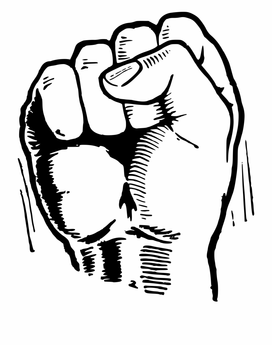 920x1168 Royalty Free Download Black Power Fist Drawing