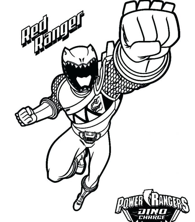 672x765 Coloring Pages Astonishing Red Power Ranger Coloring