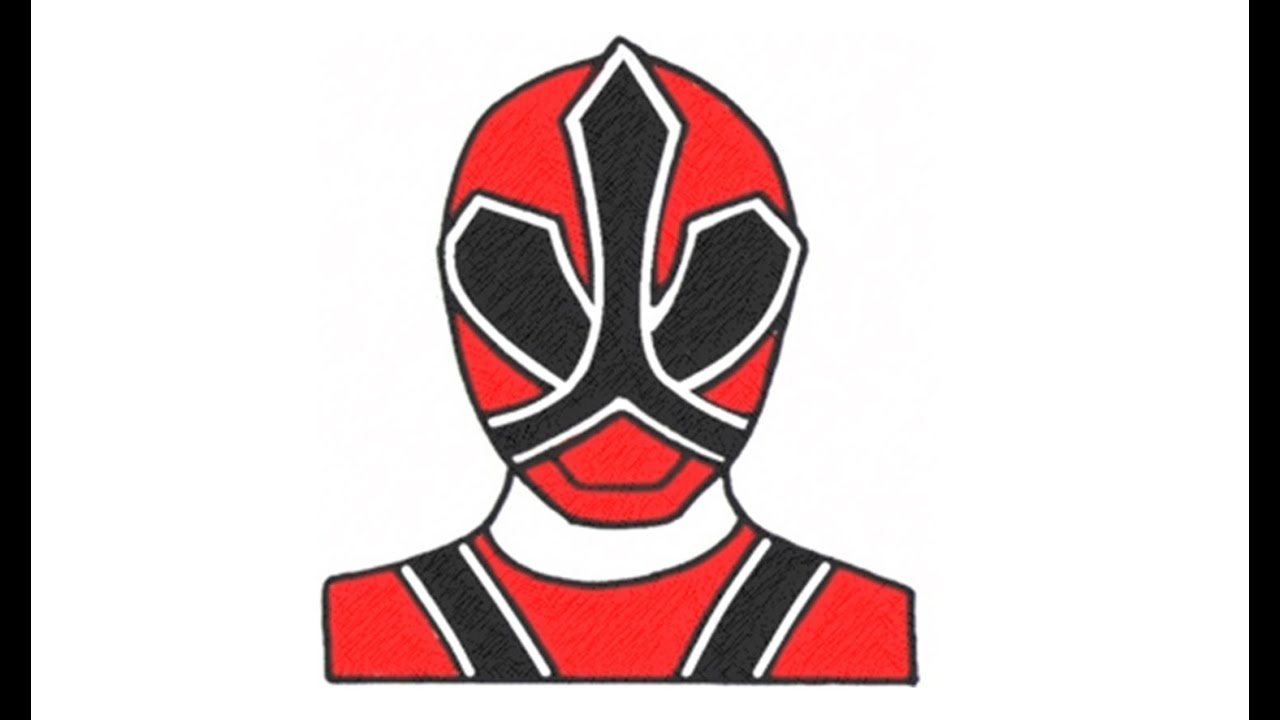 1280x720 How To Draw Red Ranger Samurai
