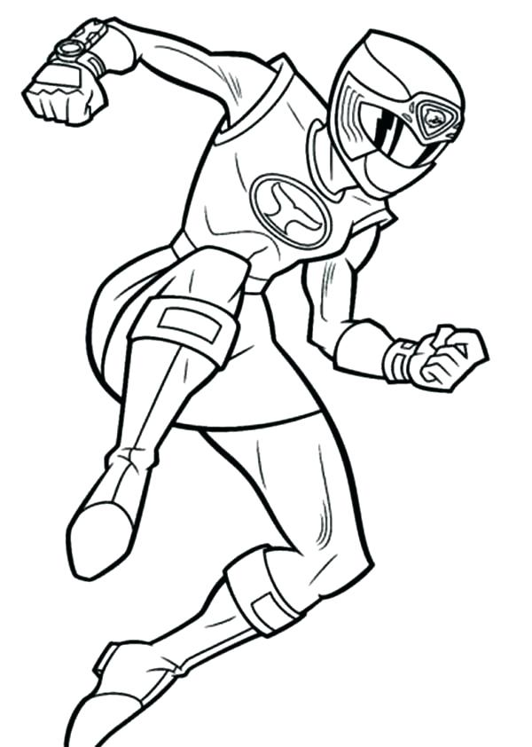 600x842 Power Rangers Dino Thunder Coloring Pages