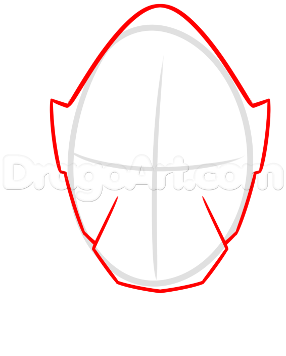 566x703 How To Draw Megaforce Red, Red Ranger, Step