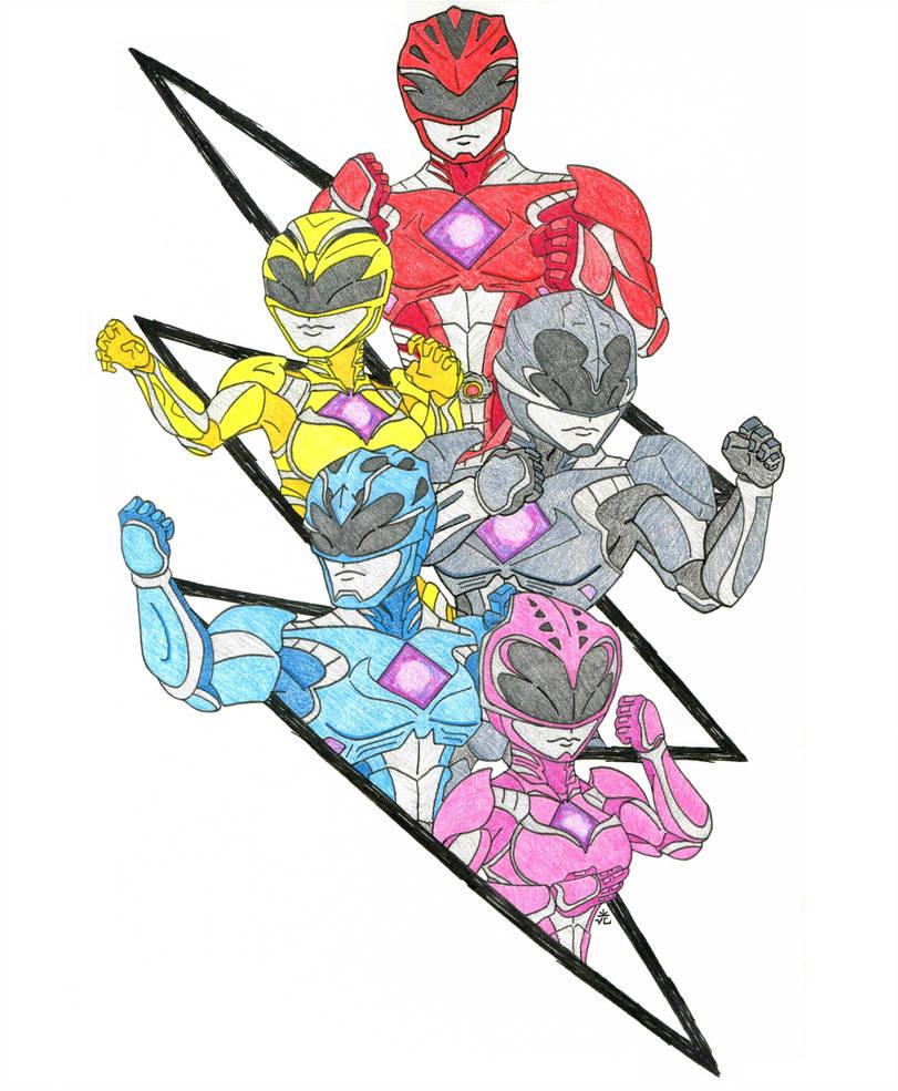 811x985 Power Rangers Movie Fan Art