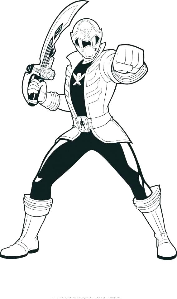568x960 Power Ranger Printable Coloring Pages