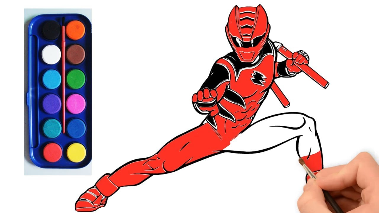 1280x720 Como Dibujar Power Ranger Rojo Jungle Fury