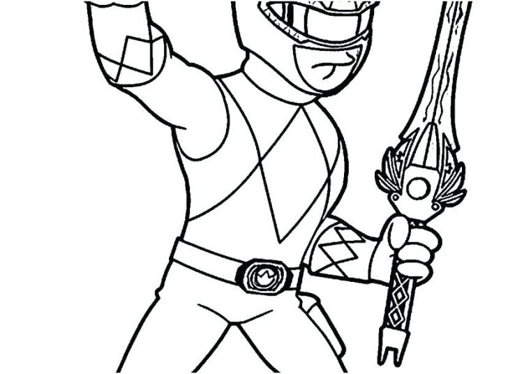 728x536 Power Rangers Spd Coloring Pages To Print Mighty Morphin Printable