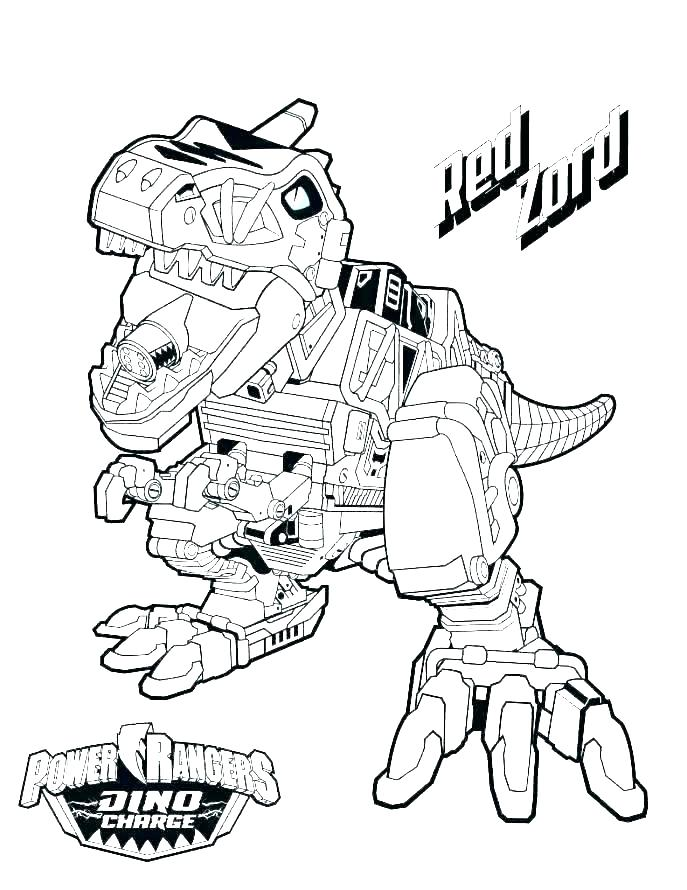 687x890 Related Post Megazord Coloring Pages Dino Charge Of Power Rangers