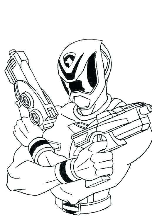 518x741 Coloriage Power Ranger Samurai