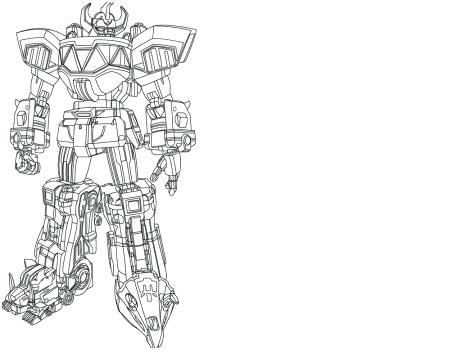 462x350 Megazord Coloring Pages
