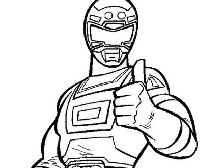 440x330 Red Power Ranger Coloring Pages, Power Ranger Mask Coloring