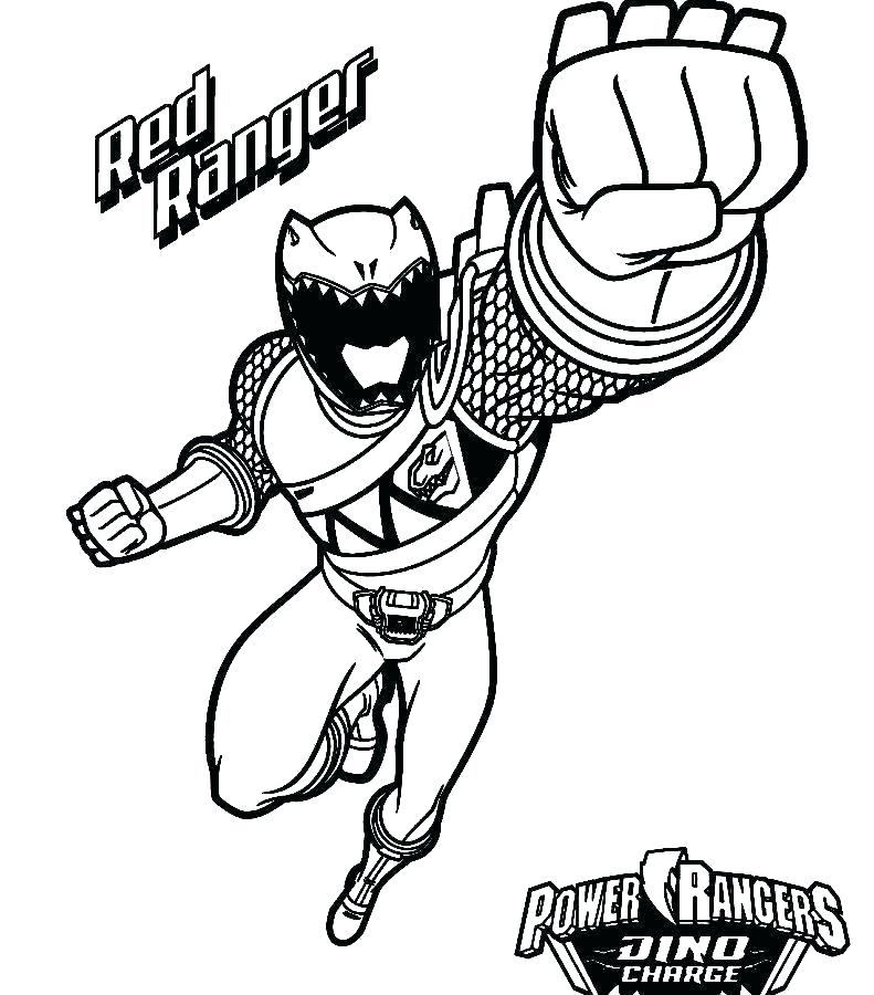 791x900 Power Ranger Coloring Page